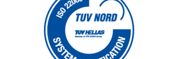 Achieved ISO22000 certification