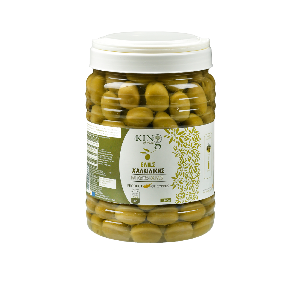 king-of-olives-1300g-plastic-jar-green-chalkidikis-greek-olives