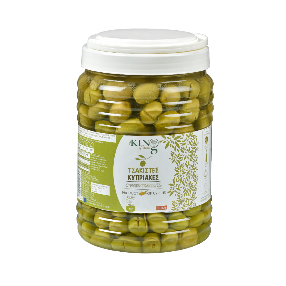 king-of-olives-1300g-plastic-jar-tsakistes-cyprus-olives